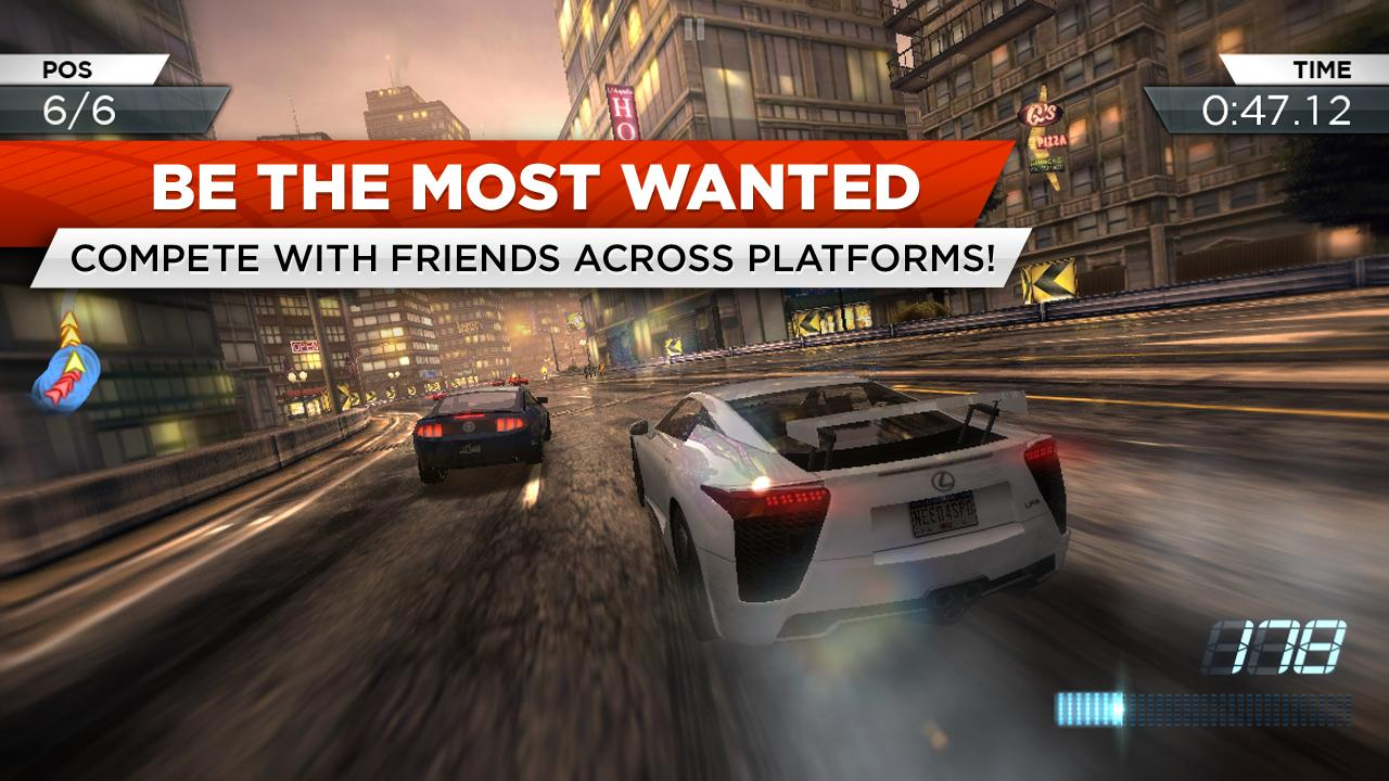 Need For Speed: Most Wanted Hits Android, Available In The