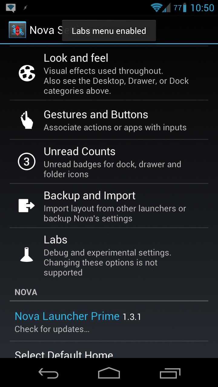 Tip: Access The Secret 'Labs' Menu In Nova Launcher For Even