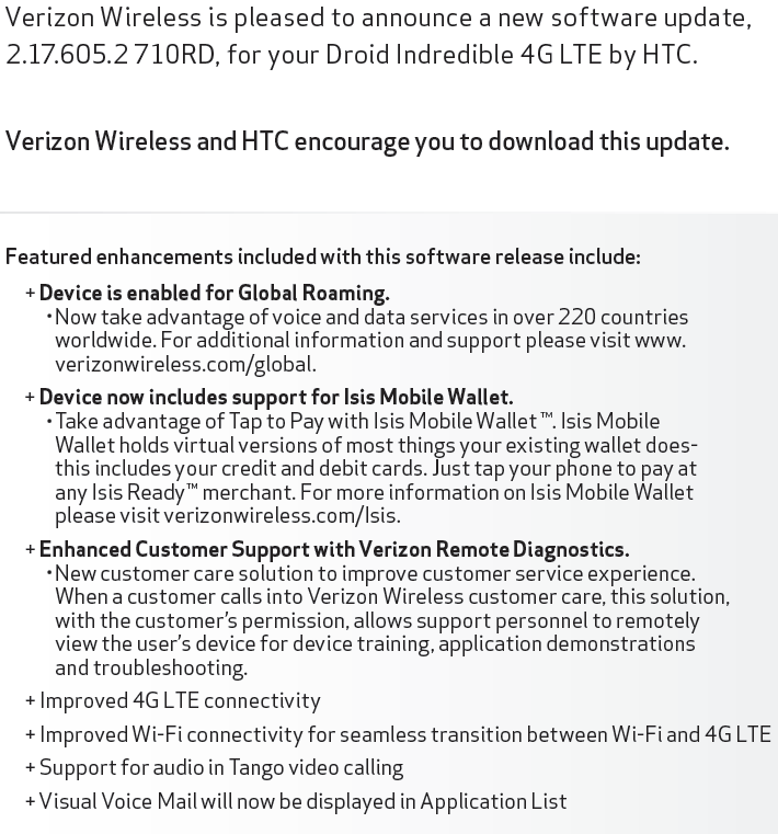 Update: Isis Support Removed] DROID Incredible 4G Receiving