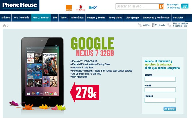 phonehouse nexus 7 32gb