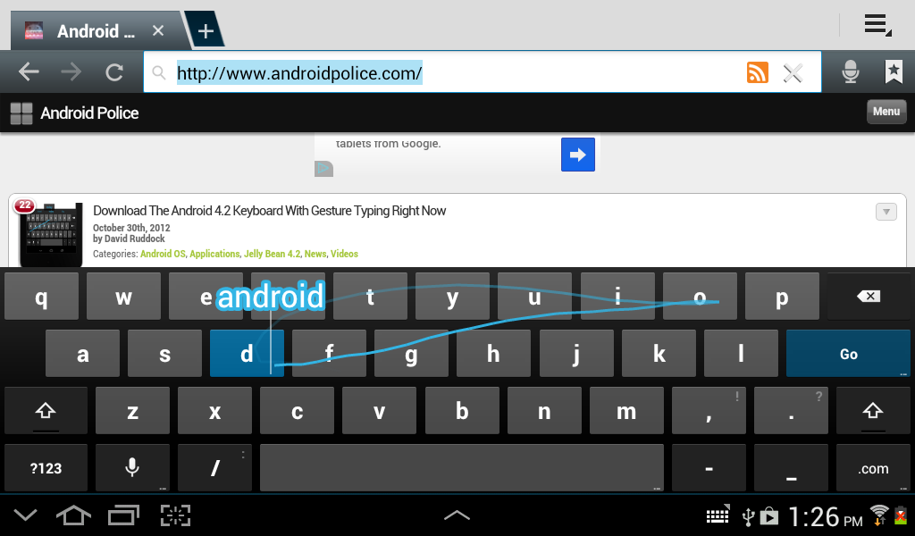Download The Android 4 2 Keyboard With Gesture Typing Right Now