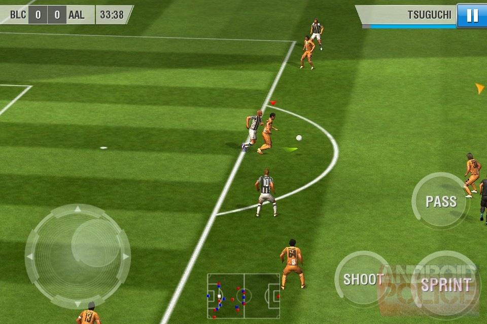 На данный момент мобильная игра Real Football 2012 распространяется на офиц