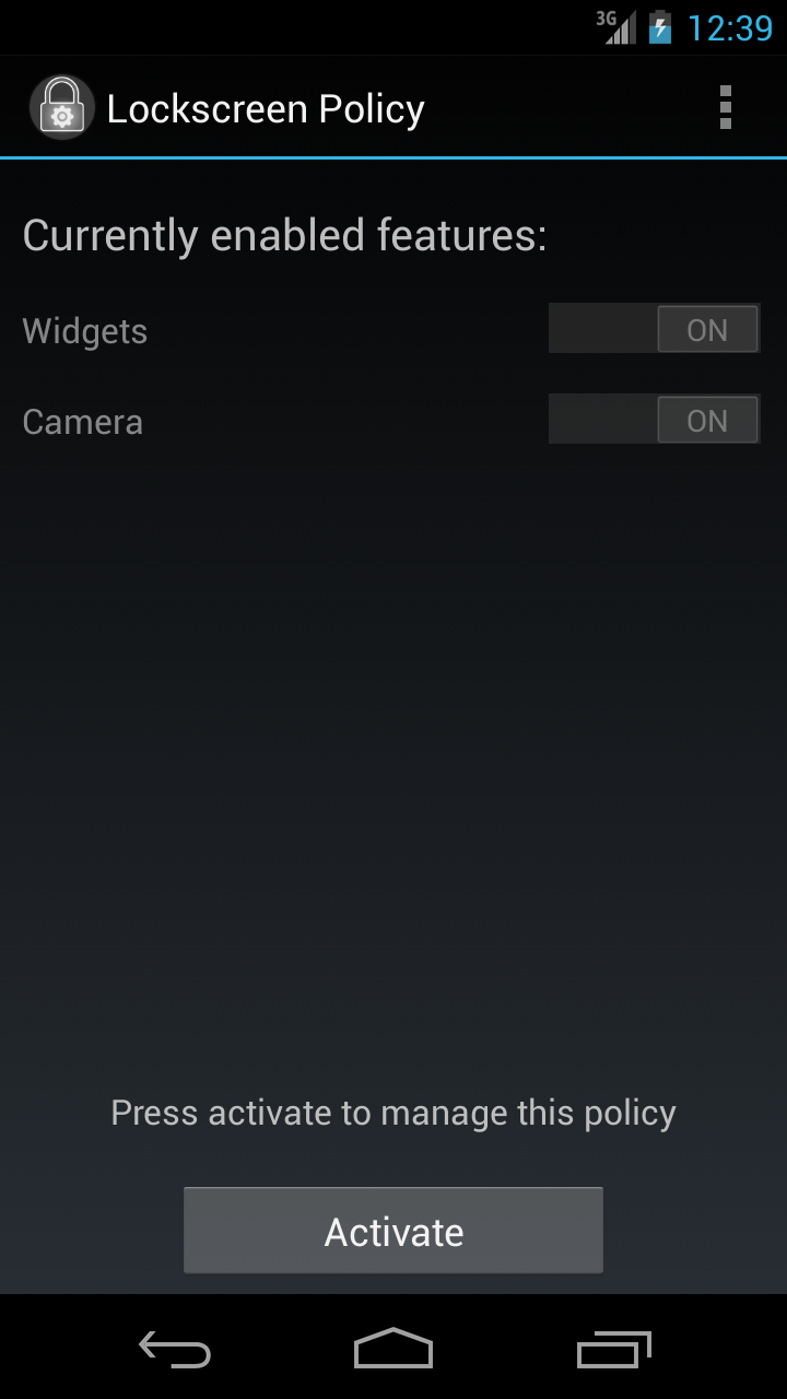 New App Lockscreen Policy Lets You Disable Widgets And Camera Access On Android 4 2 S Lockscreen