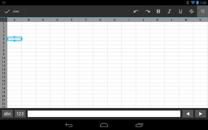 nativespreadsheet