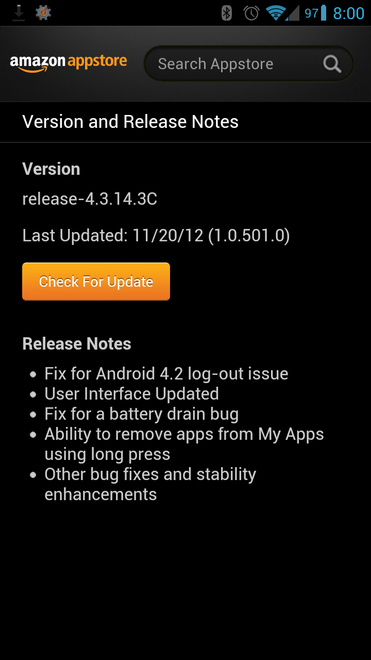 Amazon Appstore Updated With Refreshed UI, Android 4 2 Multi