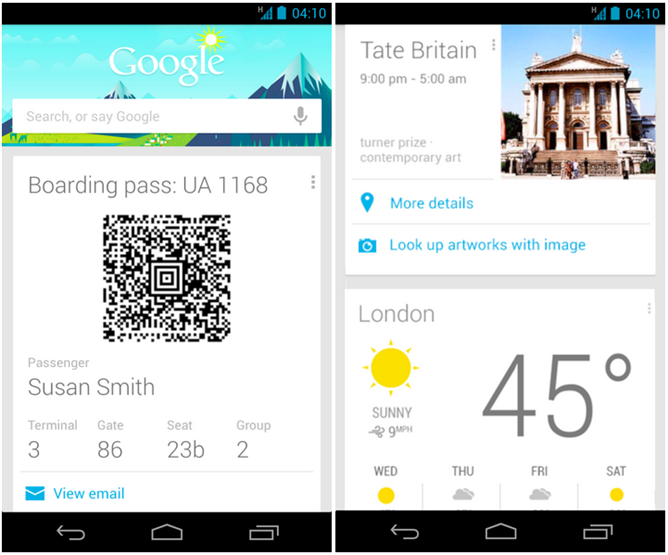 Google Now - Travel Cards Update2
