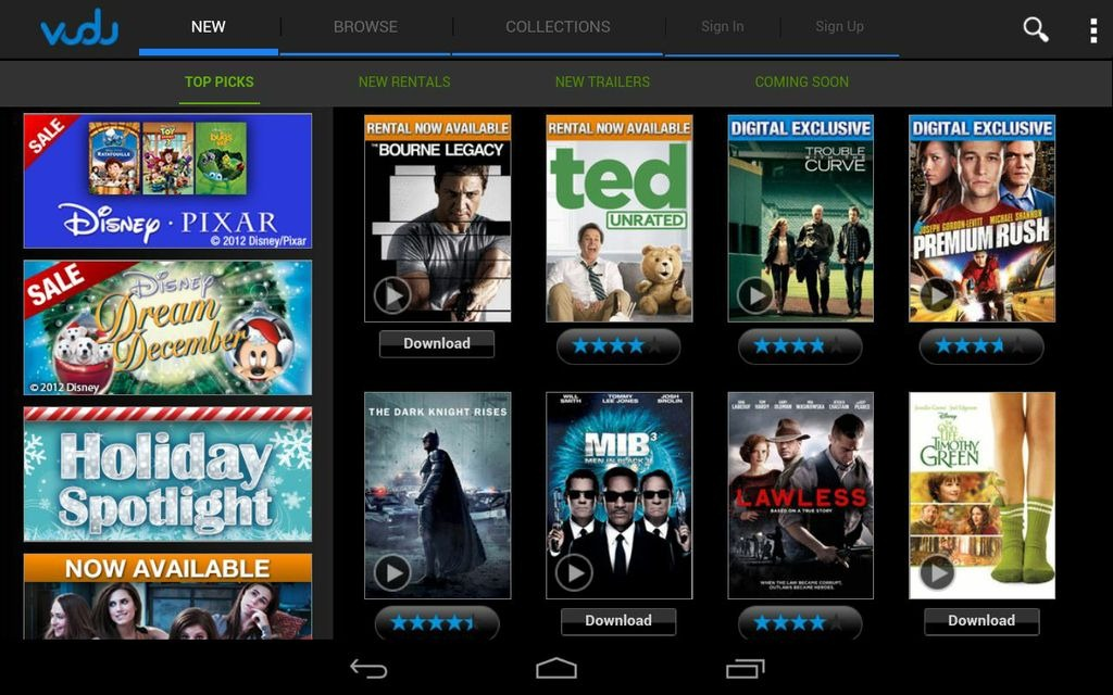 how to download ultraviolet digital copy to android
