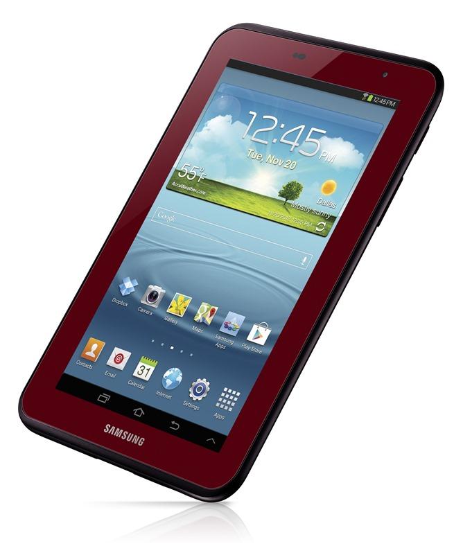 Garnet Red Galaxy Tab