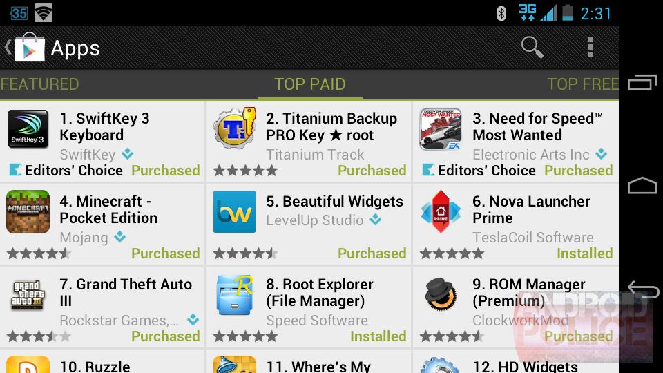 google app store free movies