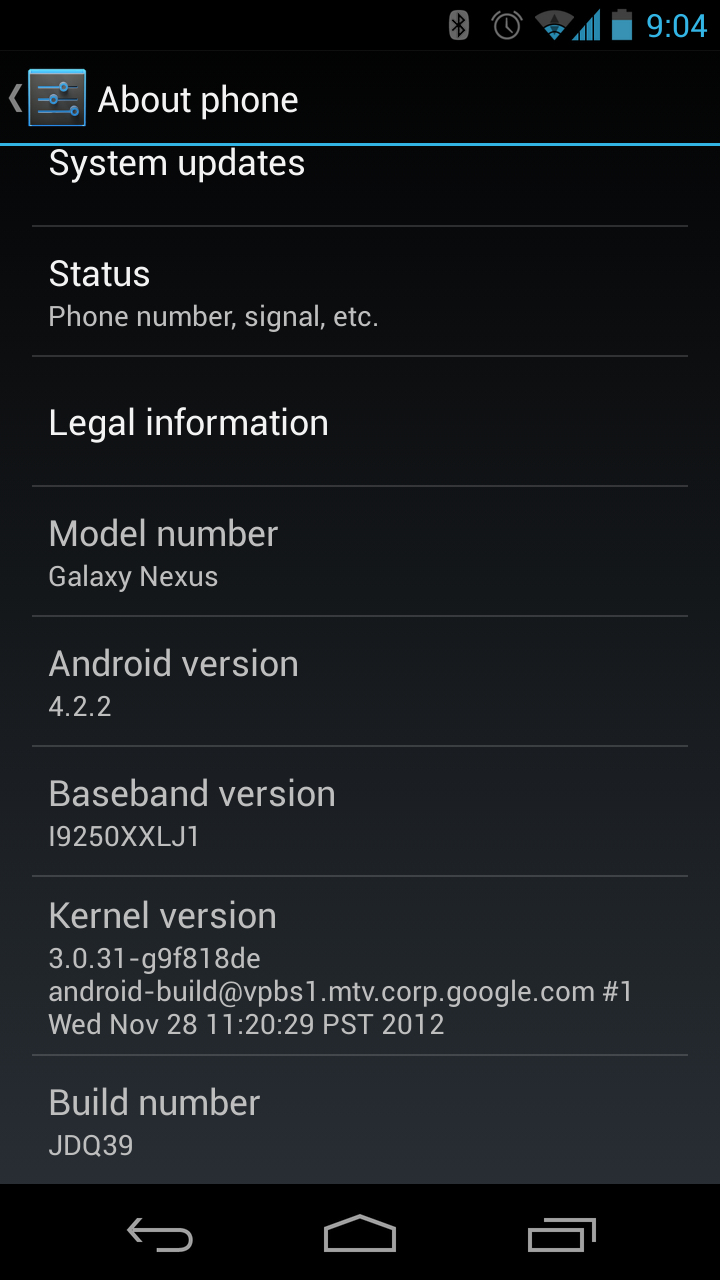 here s the android 4 2 2 jdq39 update for the takju gsm galaxy nexus rh androidpolice com Android 2.1 Android 2.0