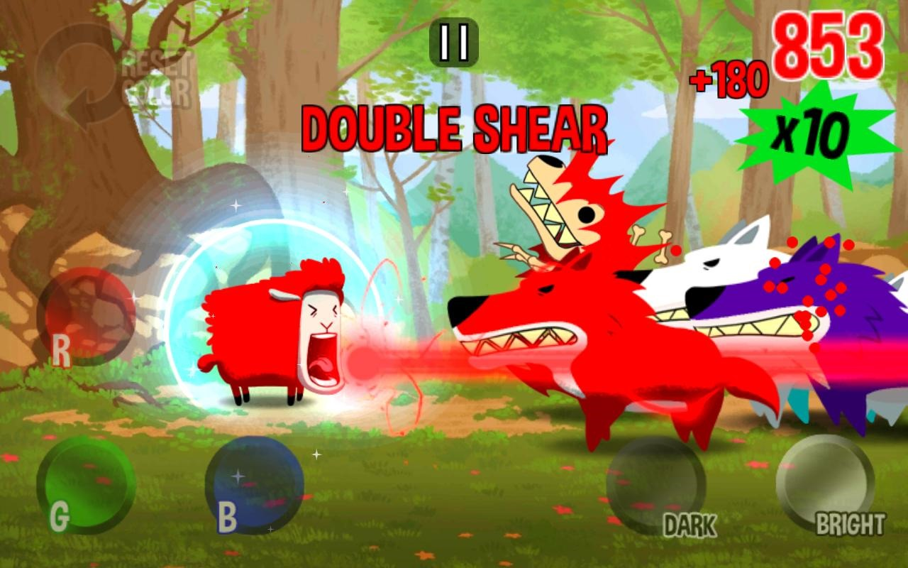 holy crap this color sheep game with rainbow colored lasers is