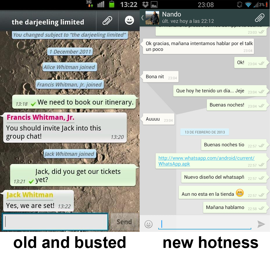 whatsapp messenger apk old version