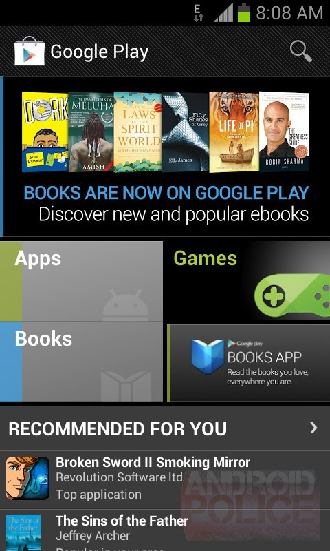 how to add book to play book android