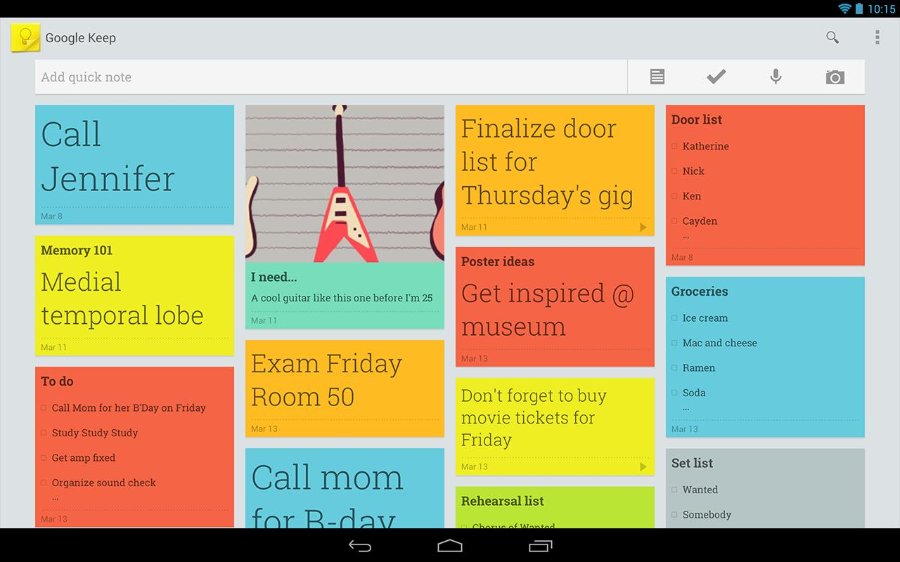 Google Keep Google S Note Taking App Is Live Again