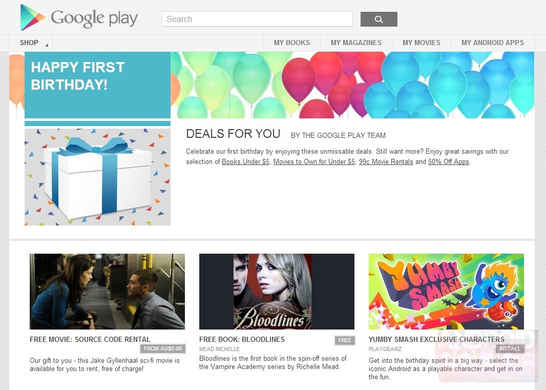 The Play Store's 1-Year Anniversary Sale Has Begun    In Australia