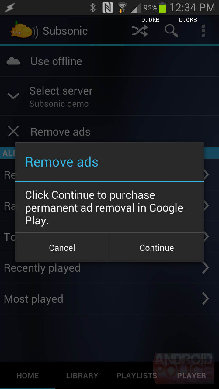 Subsonic Music Streamer Updated To Remove Ads, No More In-App