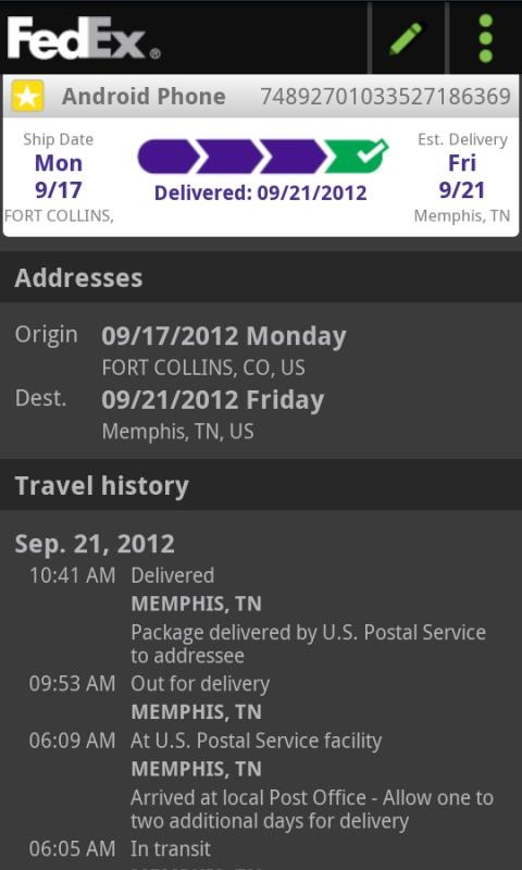 FedEx Mobile Updated To v2 0 With New Delivery Manager