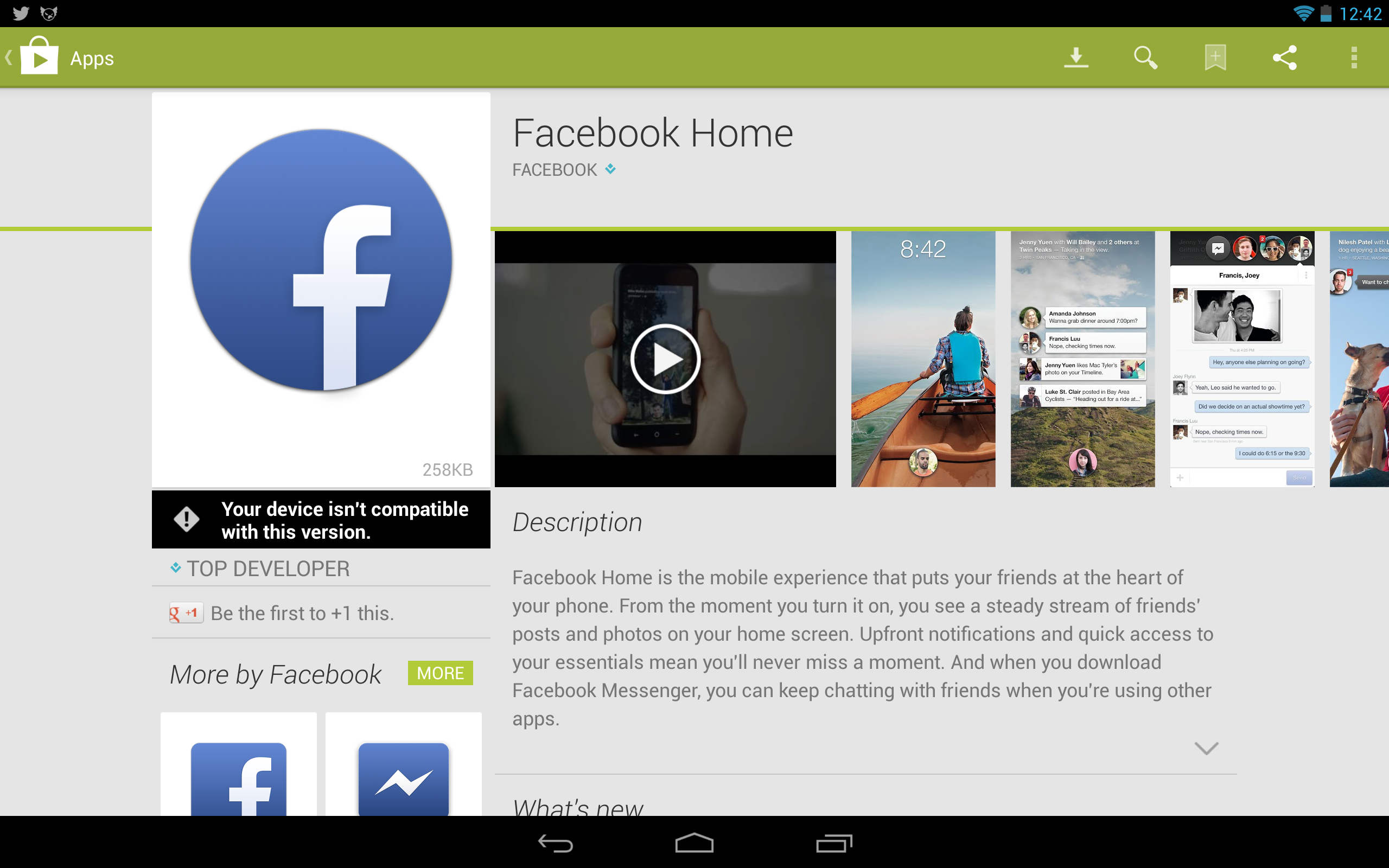 Facebook Home Is Now On The Play Store, Available For Select Devices