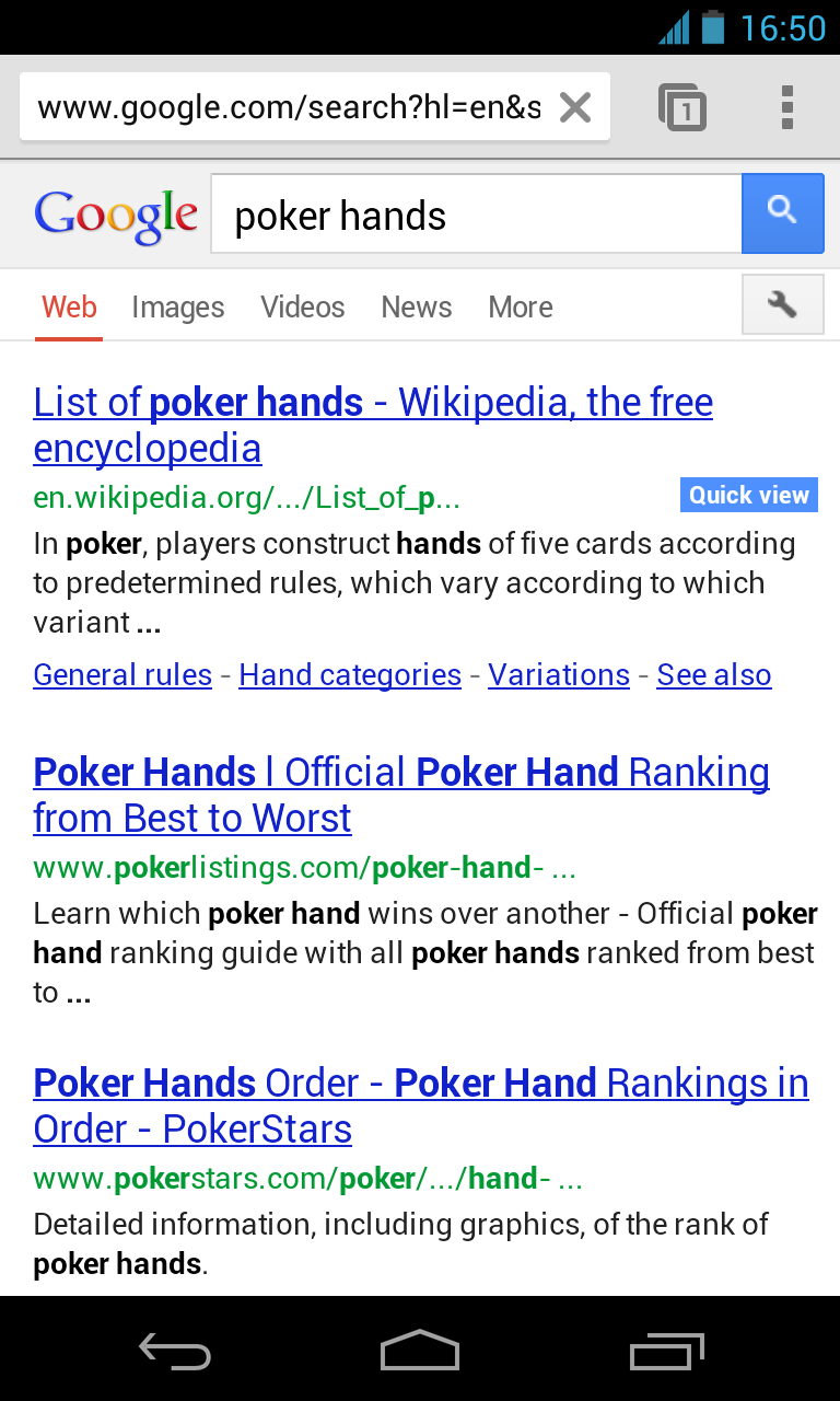 Google Improves Mobile Search With Easier Access To Rotten ...