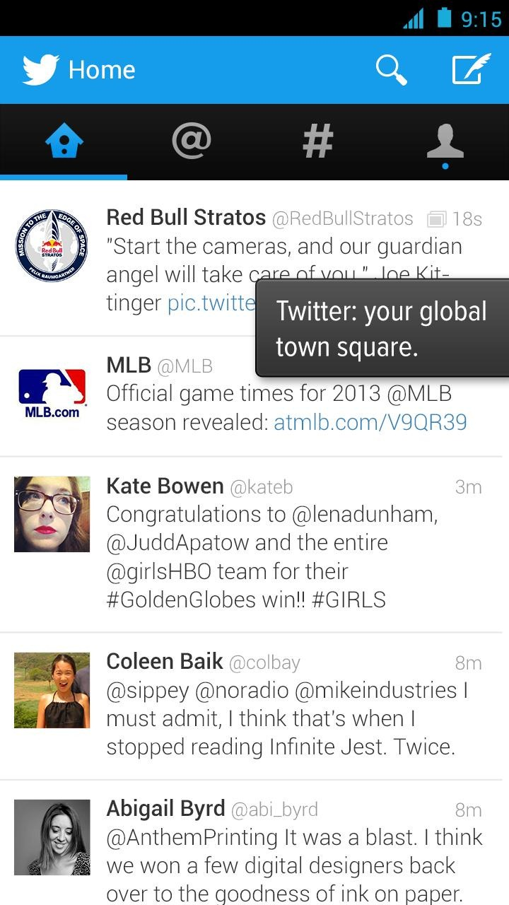 New Twitter 220.20 Update For Android Finally Goes Holo   Swipeable ...