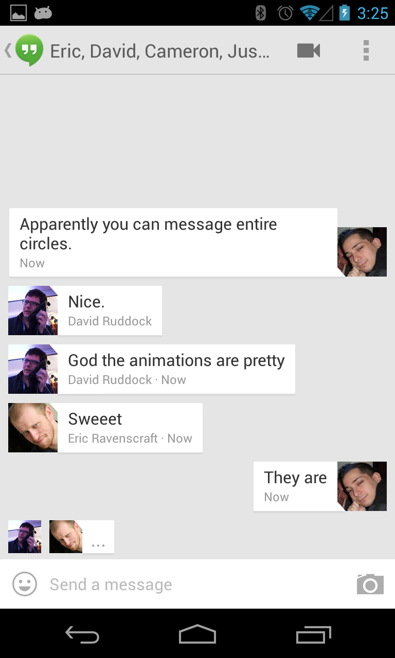 Hanging Out With Google Hangouts Google S New Beautiful Messaging App That Doesn T Really