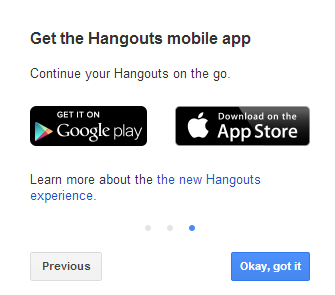 how to open hangouts in gmail on phone