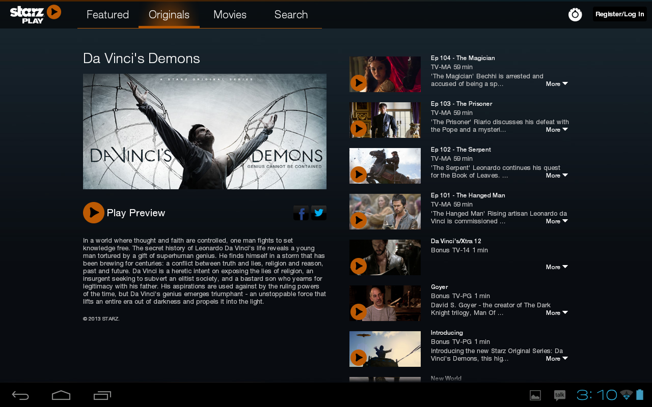 Starz Releases Trio Of Video Streaming Apps: STARZ Play