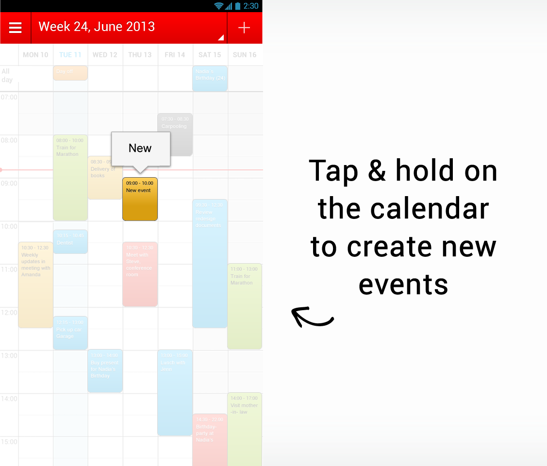 Popular iOS App WeekCalendar Brings Easy Calendar Management To Android
