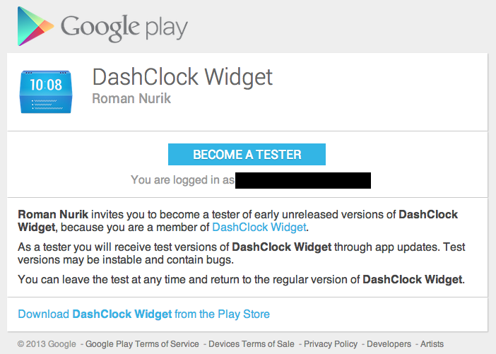 DashClock Widget Developer Switches To New Beta Testing Technique, Helps Us See How It Works