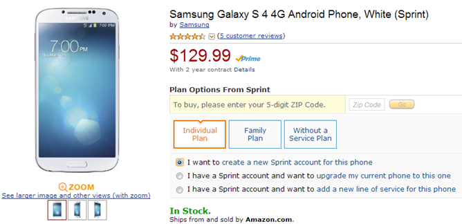 Deal Alert] Amazon Offering AT&T HTC One And Sprint Galaxy