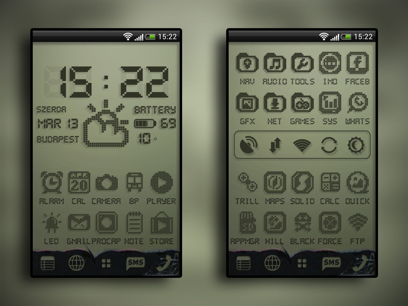 Create A Killer Retro LCD Android Theme With A Few Quick Downloads