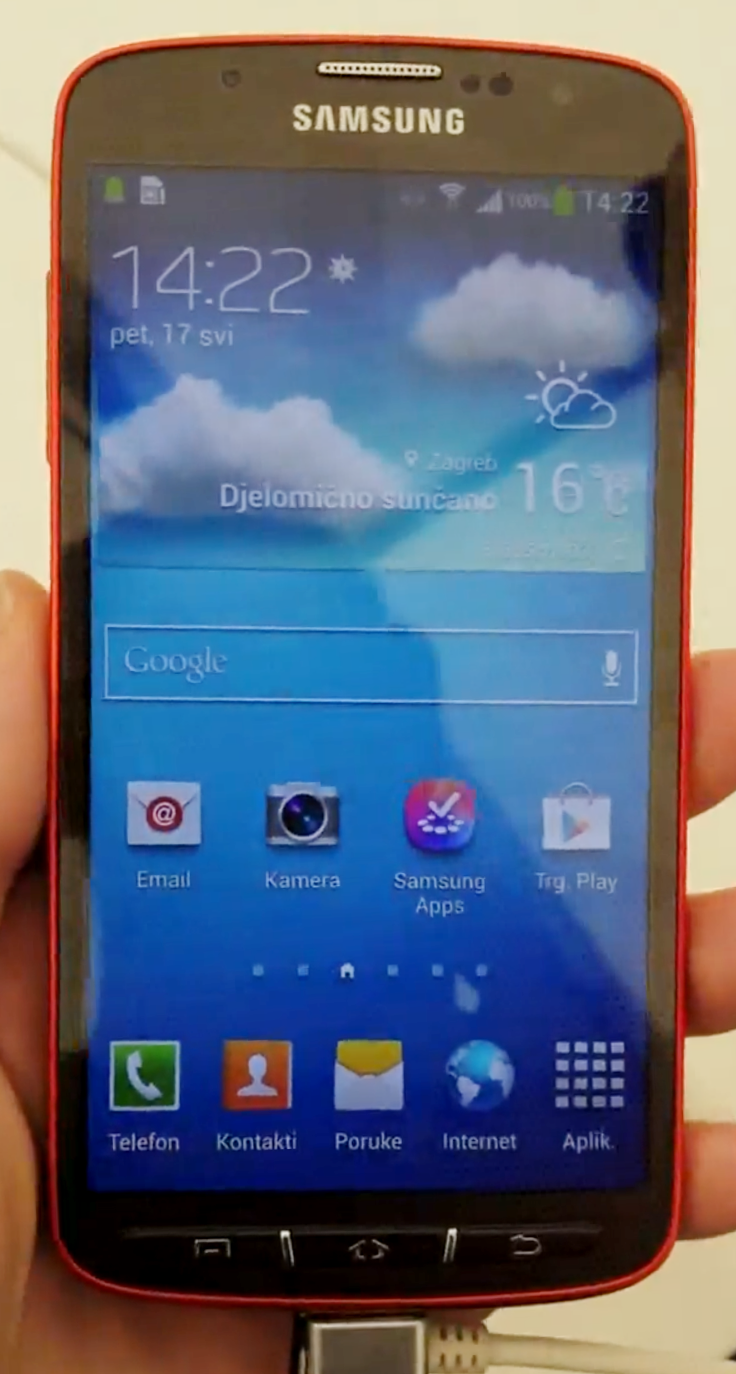 Samsung Galaxy S4 Active Caught On Video With Slower Snapdragon Cpu