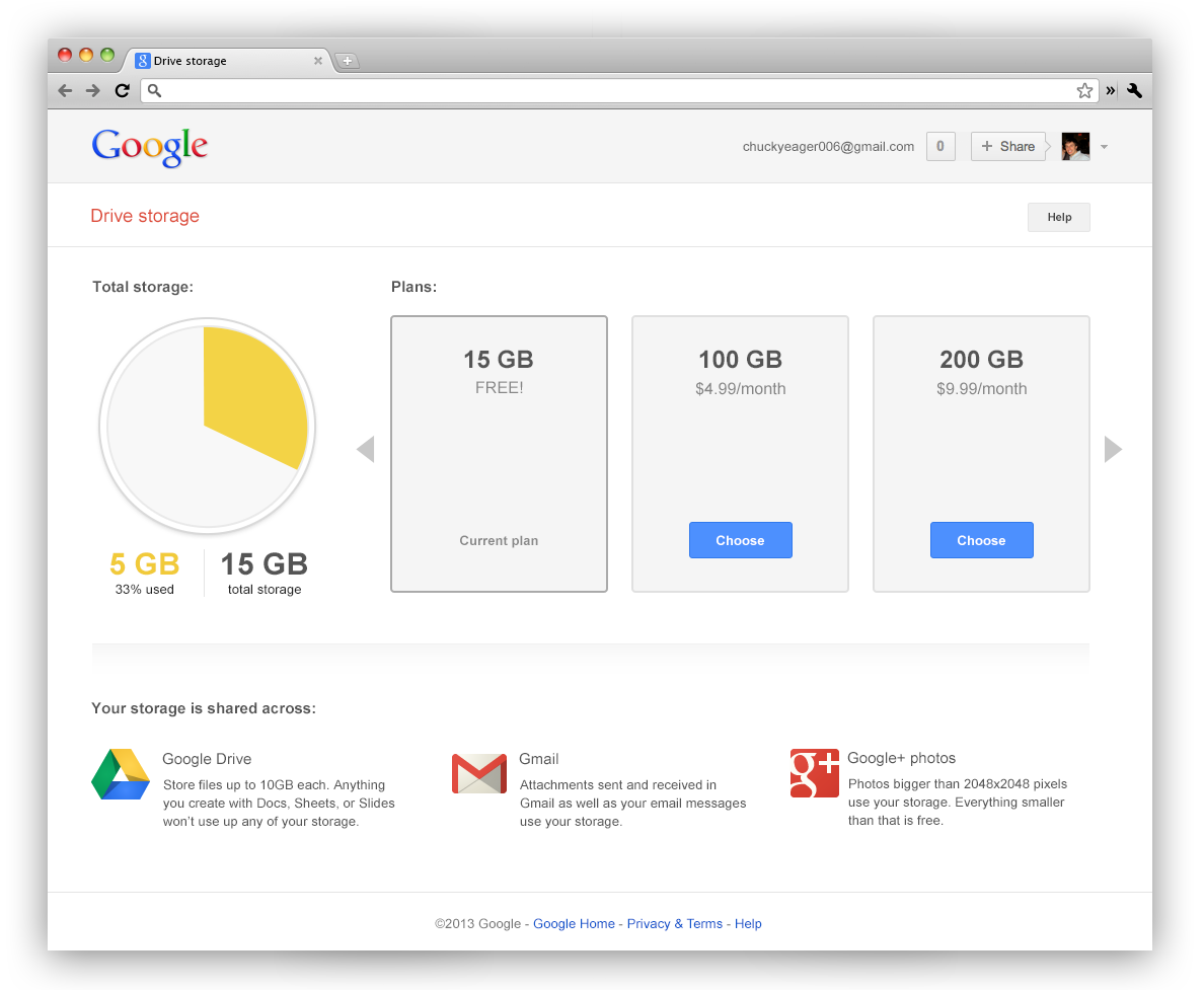 Google Links Gmail, G+, And Drive Storage - Gmail Now Comes With 15GB Of Shared Storage By Default, Caps Removed