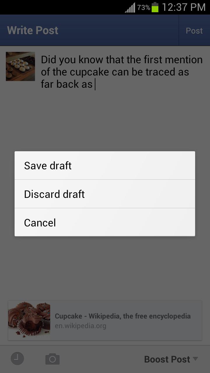 how to delete album in facebook using android phone