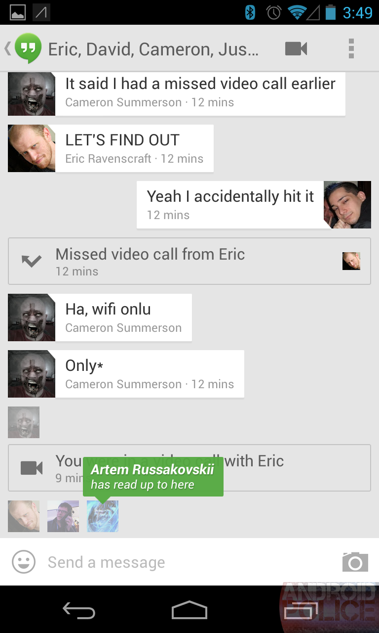 Hanging out with google hangouts googles new beautiful chatting biocorpaavc Choice Image