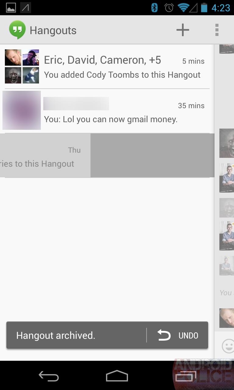 Google hangouts client for windows phone 8 - The Hangouts List
