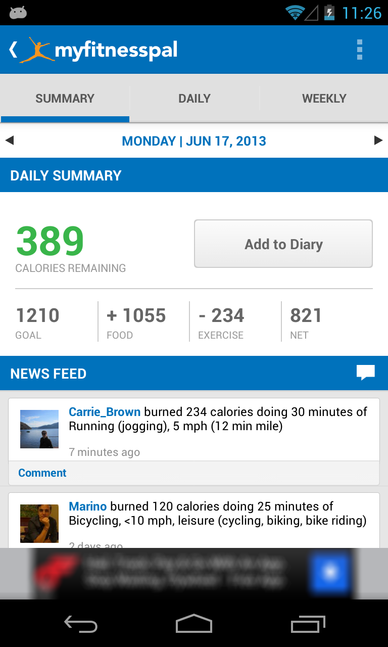 MyFitnessPal Gets Updated To v2 7 – From Horrendously Ugly To Holo