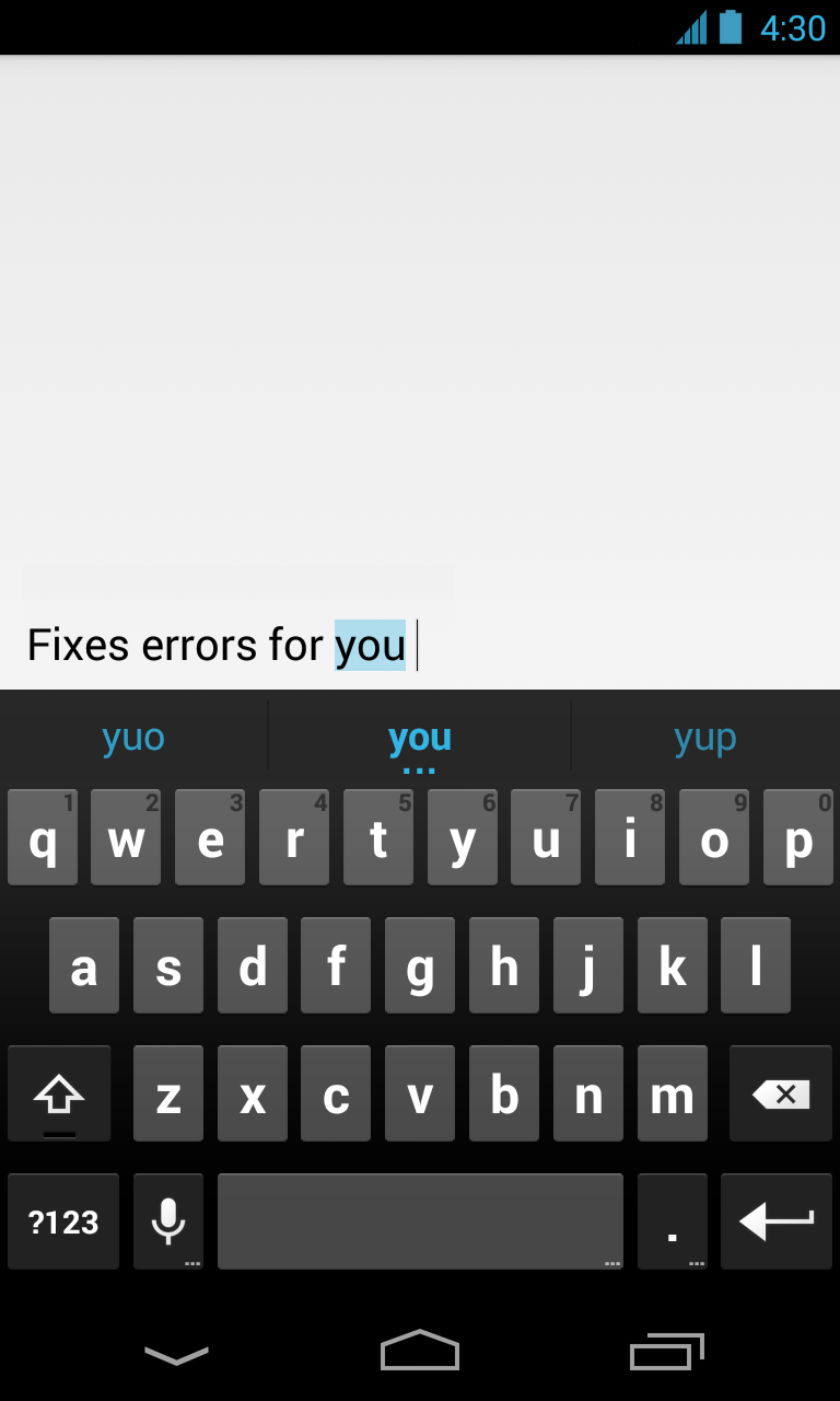 New App Google Adds Stock Android Keyboard To Google Play For All