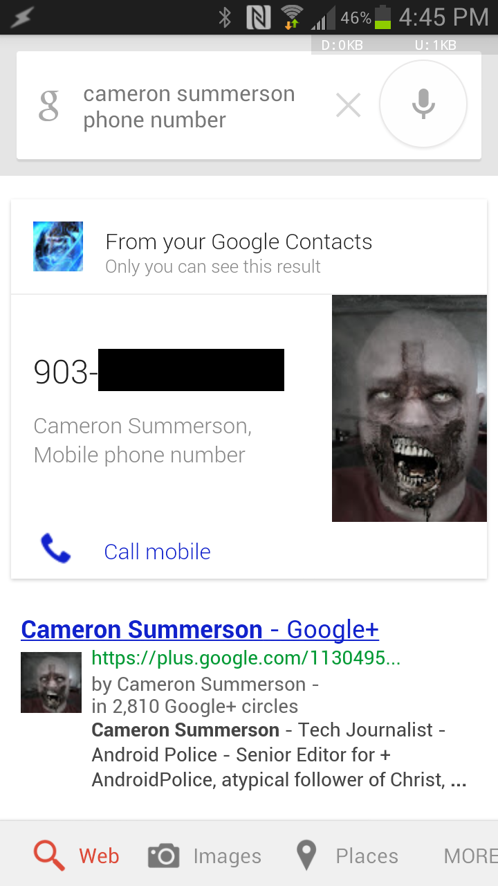 Tip: Google Search Displays Your Contact's Phone Numbers And Addresses If You Join The Field Trial