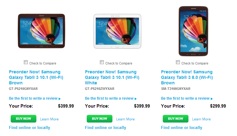 Galaxy Tab 3 Pre-Orders Available At Samsung, Amazon, Best Buy, And Other Retailers, Devices Ship July 7