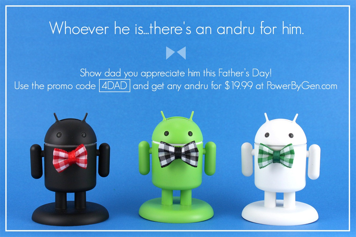 PoweredbyGen Finally Launches Andru EU And UK Power Adapters Along With Coiled Cables And A Father's Day Promo
