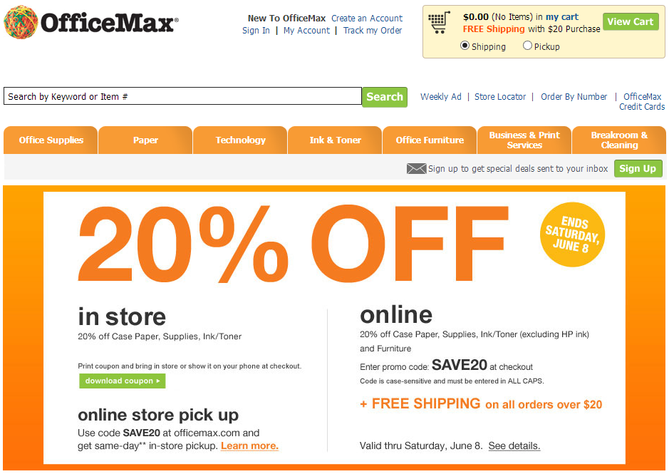 Office max coupon code
