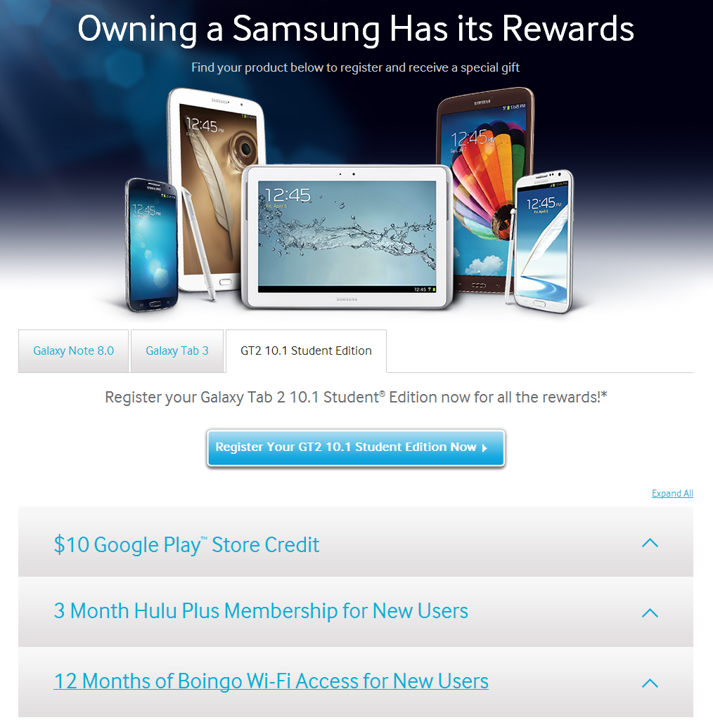 Samsung Starts A Promo For The Galaxy Tab 2 Student ...