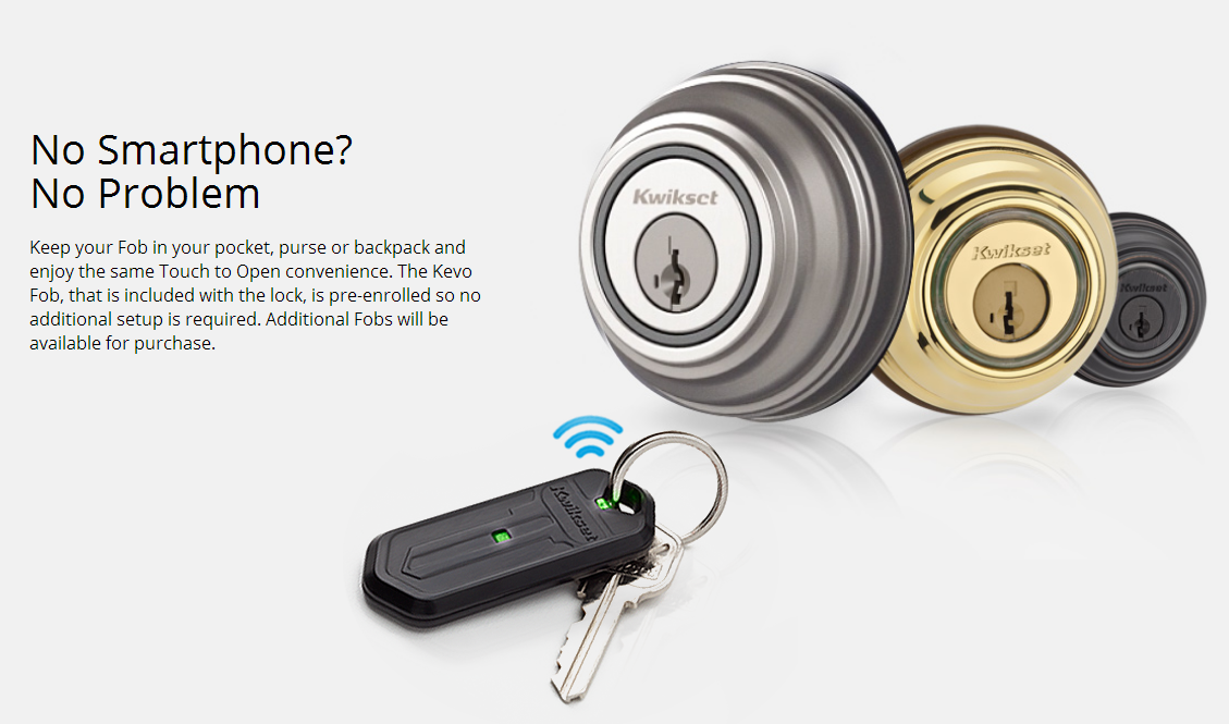 The Kwikset Kevo Bluetooth Enabled Door Lock Is Available