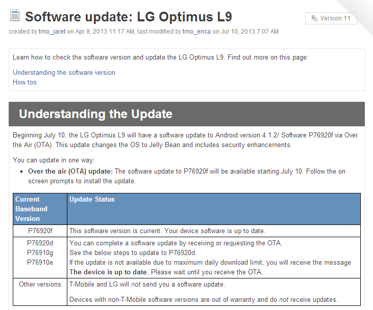 Lets Try This Again] T-Mobile Updates Optimus L9 To Android 4 1 2