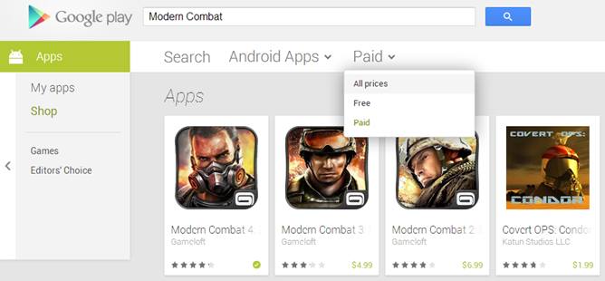 play store paid