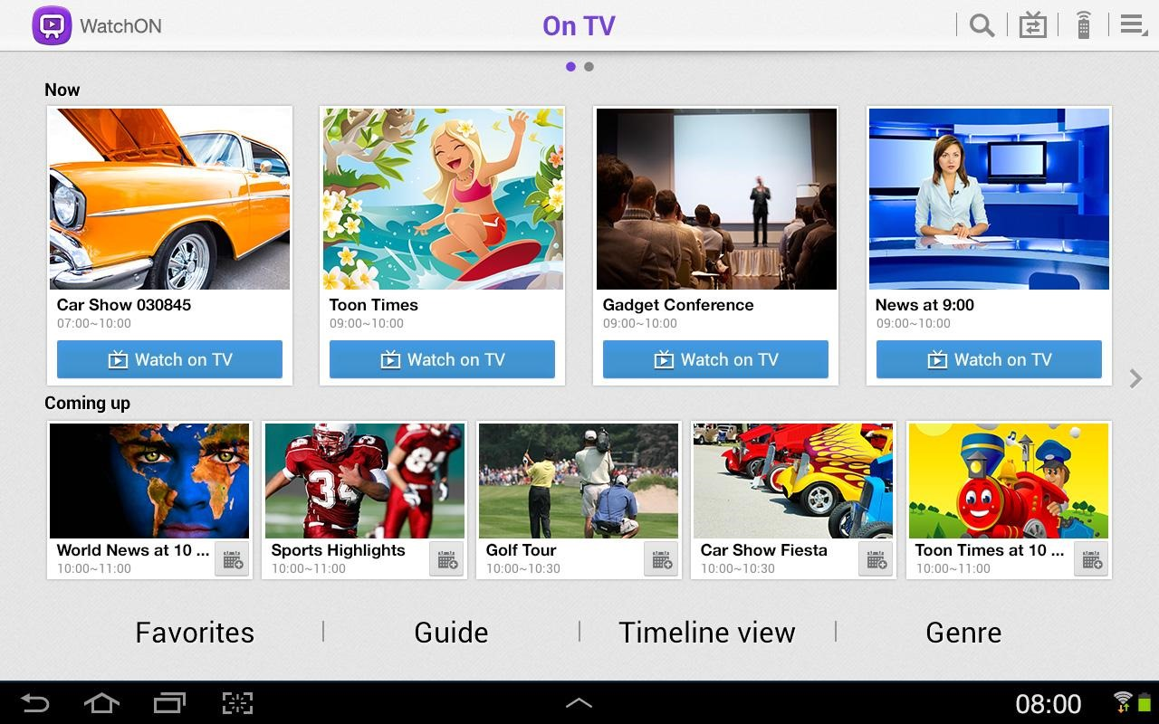 Samsung's WatchON Play Store Entry Expands To The S4, New Tablet App For The Galaxy Note 10.1 And Tab 2