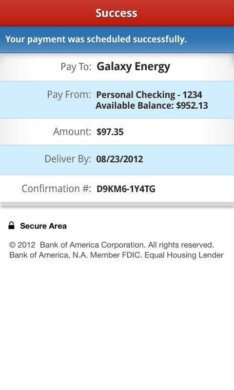 Bank America Android App Adds PayPal Style Money