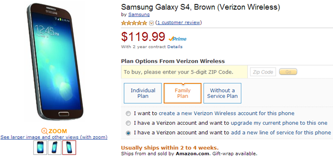 2013-08-05 00_34_41-Amazon.com_ Samsung Galaxy S4, Brown (Verizon Wireless)_ Cell Phones & Accessori