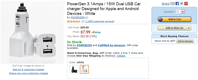2013-08-12 15_52_24-Amazon.com_ PowerGen 3.1Amps _ 15W Dual USB Car charger Designed for Apple and A